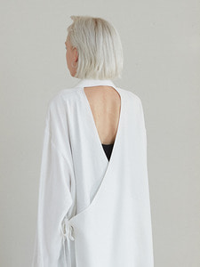 18ss back pointed shirts [white]