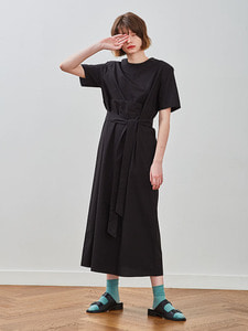 18ss pin-tuck dress [black]