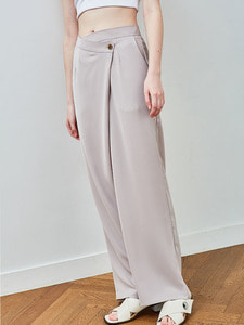 wrap trousers [beige]