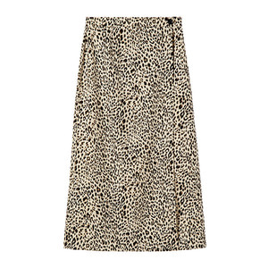 wrap skirt [leopard]