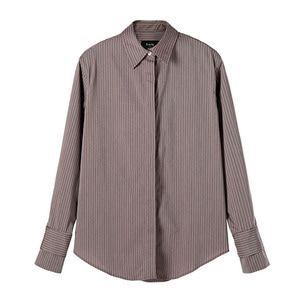[2차 reorder] signature shirt [purple brown]