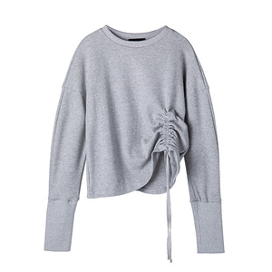 [1차 리오더] shirred sweat shirt [grey]