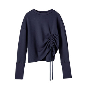 [1차 리오더]                      shirred sweat shirt [navy]