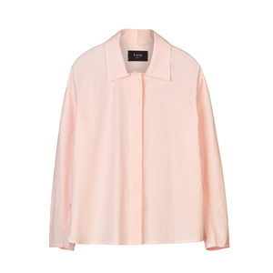 cotton-poplin shirt [peach pink]