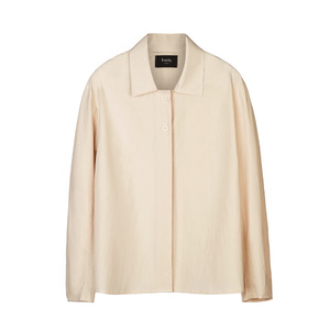 cotton-poplin shirt [beige]
