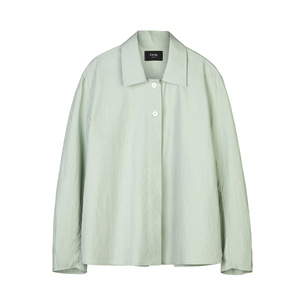 cotton-poplin shirt [mint]