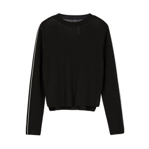 contrast knit [black]