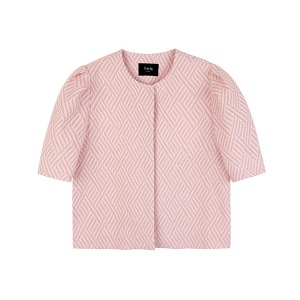 (new color) puff sleeve jacket [pink]